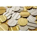 Rūpnieciski ražoti žetoni un monētas ar gropēm