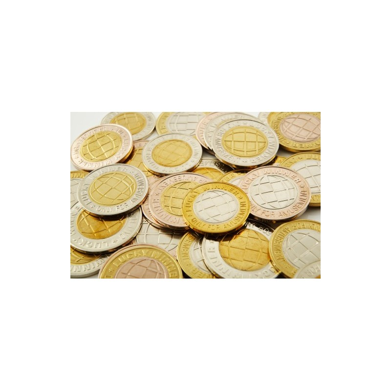 Rūpnieciski ražoti divmetālu žetoni un monētas
