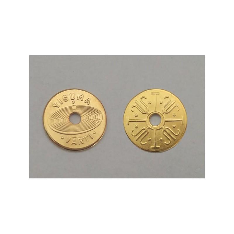 """Apzeltīta monēta """"Visuma vārti"""""""