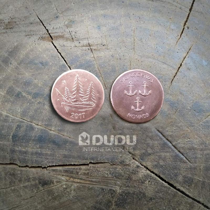 """Copper coin """"Ziemassvētki Salacgrīvas novads 2017"""""""