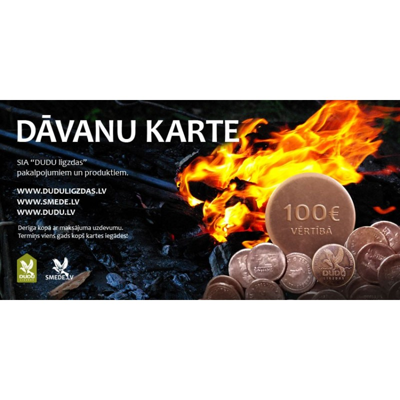 DUDU.lv dāvanu karte 50 EUR
