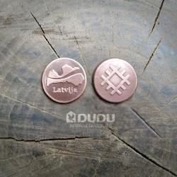 "Kalta vara monēta ""Latvija / Latvju zīme Aka"""