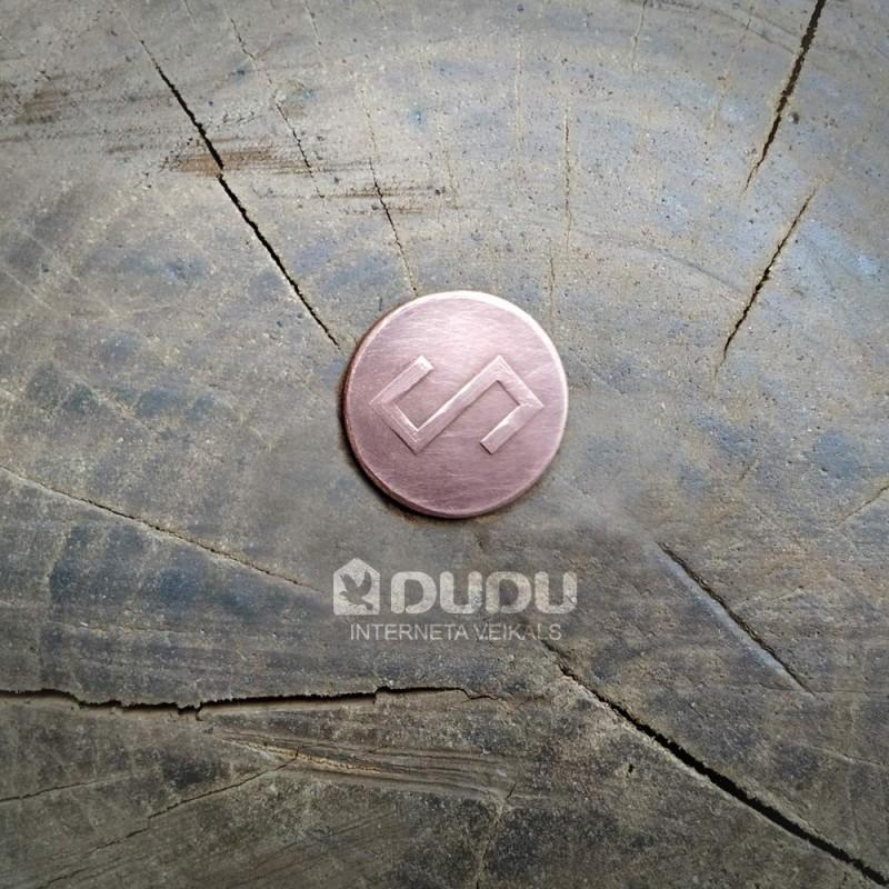"""Kalta vara monēta """"Latvju zīme Zalktis"""""""