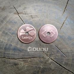 """Kalta vara monēta """"Latvija / Latvju zīme Zalktis"""""""