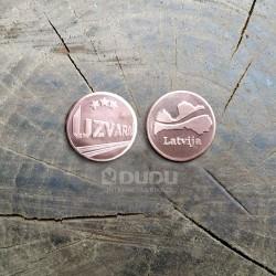 """Kalta vara monēta """"Uzvara / Latvija"""""""