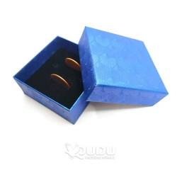 Square blue gift box