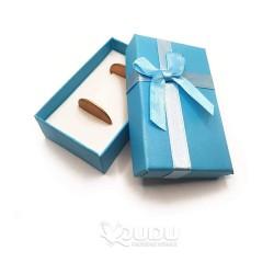 Ocean blue box with a bow