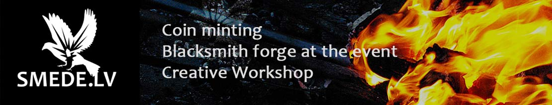 Coin minting, Blacksmith forge at the event, Creative Workshop